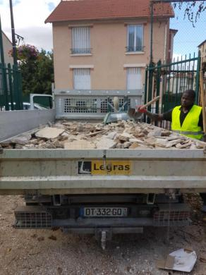 Enlevement de gravats propre - Chantier : Saint Denis 93200